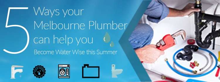 5 Ways your Melbourne Plumber can help you Become Water Wise this Summer!